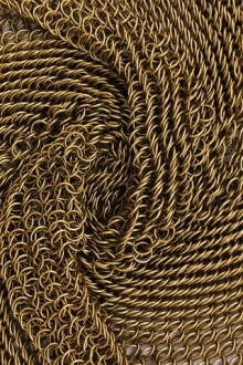 gold chainmail in swirl