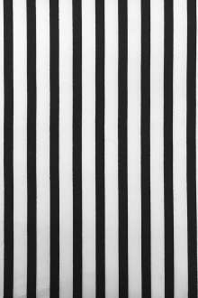 Black and White Cotton Broadcloth Stripe0