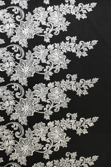 Embroidered Black Illusion with Ornate Single Border0