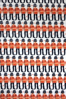Cotton Broadcloth London Guards Print0