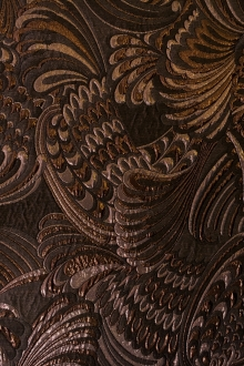Metallic Brocade with Art Nouveau Patterns0