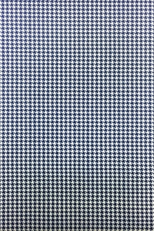 Italian Superfine Wool and Silk Houndstooth in Blue0