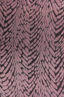 Burnout Velvet With Art Deco Pattern in Rose0