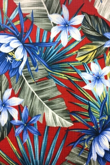 Textured Cotton Hawaiian Print0