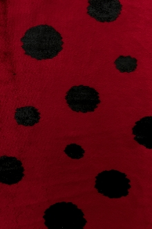 Silk and Lurex Panné Velvet with Dots0