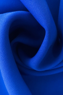 Polyester and Spandex Stretch Crepe in Royal0