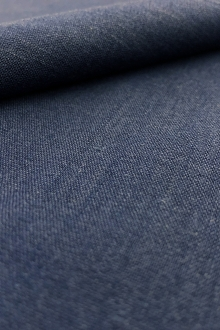 Stretch Linen Rayon Blend in Indigo0
