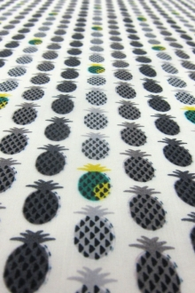 Japanese Cotton Lawn With Mini Pineapples Print0