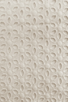 Cotton Eyelet in Ivory0