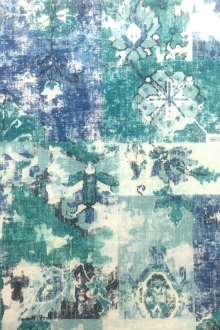 Cotton Linen Upholstery Tile Degrade Print0