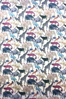 Liberty of London Linen Zoo Animal Print0