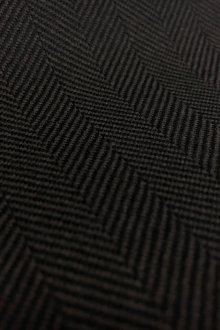 Italian Cashmere Herringbone in Dark Brown0