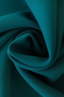 Polyester and Spandex Stretch Crepe in Teal0