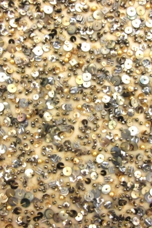 Novelty Sequins and Beads on Silk Chiffon0