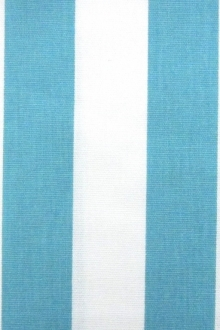 "Cotton Canvas 1.5"" Stripe In Coastal Blue And White0"