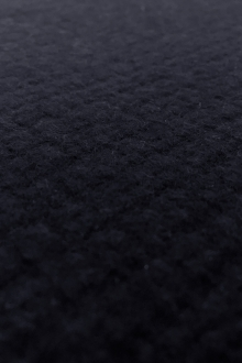 Italian Cashmere Basketweave Coating in Navy0