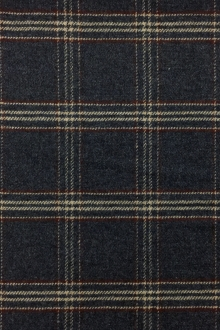 Italian Stretch Wool Blend Plaid Suiting in Blue0