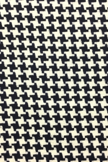 Italian Virgin Wool Novelty Houndstooth0