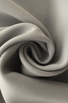 Polyester and Spandex Stretch Crepe in Light Grey0