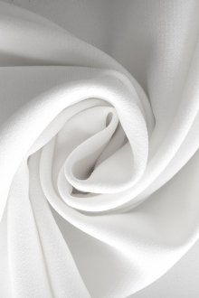Polyester and Spandex Stretch Crepe in White 0