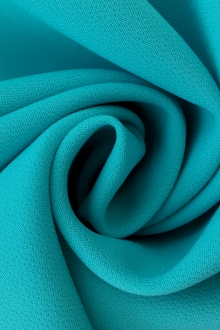 Polyester Stretch Crepe in Aqua0