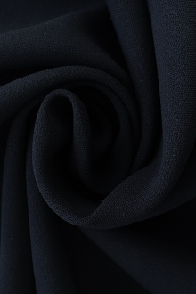 Polyester and Spandex Stretch Crepe in Midnight Navy0