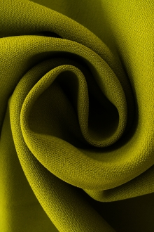 Polyester and Spandex Stretch Crepe in Avocado0