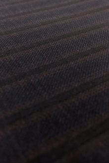 Italian Wool 140s Striped Suiting in Navy0