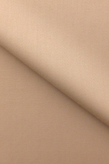 Italian Wool Satin Faille in Sand0