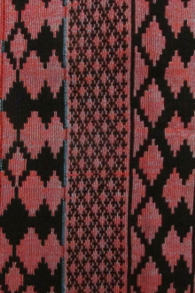 Cotton Doubleface Native Brocade Stripe0