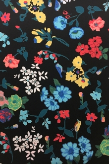 Polyester Crepe De Chine With Floral Print0