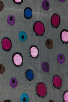 French Silk and Lurex Burnout Velvet with Dots0
