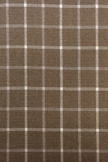 REDUCED Wool and Lurex Plaid in Brown0
