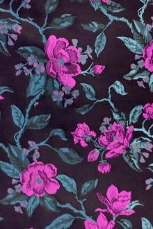 Polyester Jacquard Brocade with Florals0