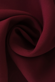 Polyester and Spandex Stretch Crepe in Burgundy0