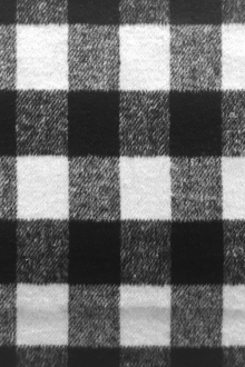 Polyester Buffalo Check in Black and White 0