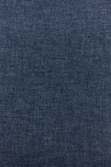 Poly Cotton Linen Blend Twill in Indigo0