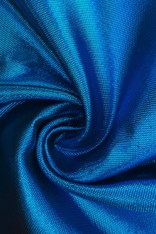 French Cotton Blend Metallic Twill in Blue0