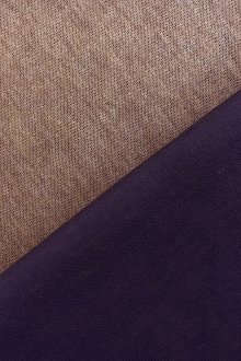 Rayon Nylon Blend Doubleface Knit in Sand and Purple0