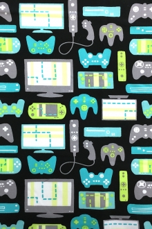 Game Controls Cotton Broadcloth Print0