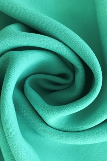 Polyester and Spandex Stretch Crepe in Aquamarine0