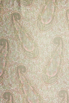 Metallic Printed Silk Chiffon0