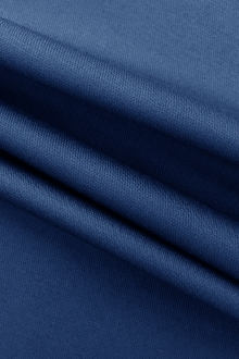Cotton Blend Stretch Satin Barathea in Blue0