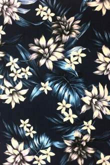 Japanese Textured Cotton Floral Print0