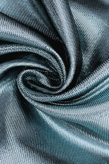French Cotton Blend Metallic Twill in Powder Blue0