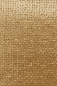 Metallic Faux Leather With Basket Weave Texture in Topaz0