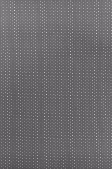 Cotton Broadcloth Petite Dot Print in Grey0