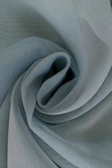 Iridescent Polyester Chiffon in Powder Blue0