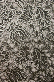 Metallic Coated Embroidered Tulle0