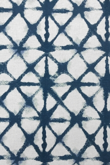 Denim Shibori Cotton Blend Upholstery Print0